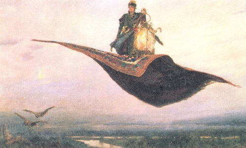 Fairy tale happiness by Vasnetsov. Carpet - plane. 1880