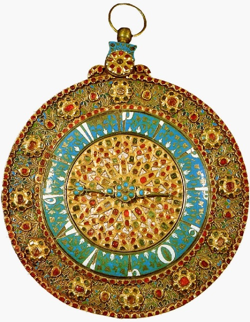 Watches Turkish work. Mid-17th century. Rubies, emeralds, turquoise. Topkapi Palace Museum, Istanbul, Turkey