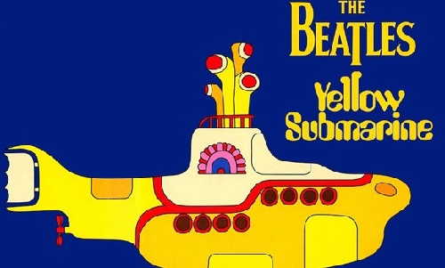 Yellow color. Yellow submarine by Beatles