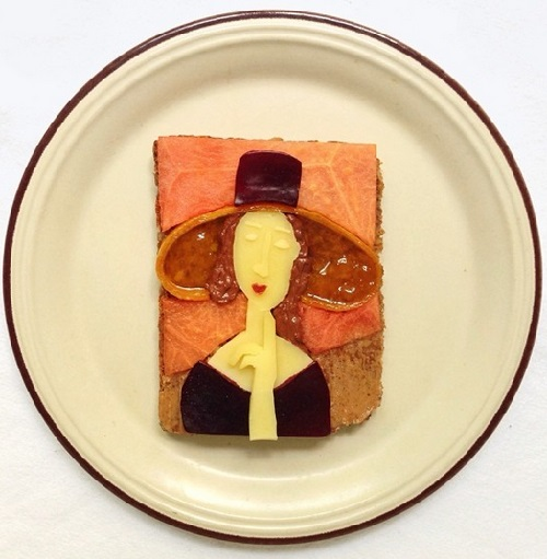 Amedeo Modigliani. Art Toast Project by Ida Skivenes