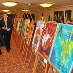 Works of art by famous politicians during the Christmas Fair of 2009