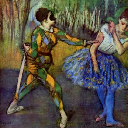 Edgar Degas. 'Harlequin and Columbine'