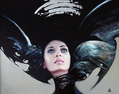 Female perfection in painting by Polish painter Karol Bak