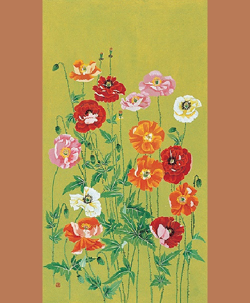 Flanders Poppy. Korean flower painter Sookja Rho
