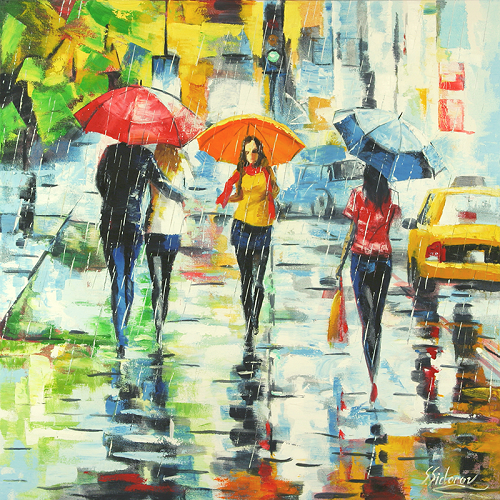 From the series 'Umbrella', painting by Stanislav Sidorov