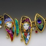 Stunning Handcrafted Enameled necklace by Californian jewelers Mona & Alex Szabados