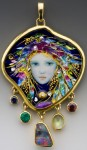 Mona and Alex Szabados Enamel Jewelry art
