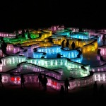 Ice maze at the 31st International Ice and Snow Festival in Harbin, January 5, 2015
