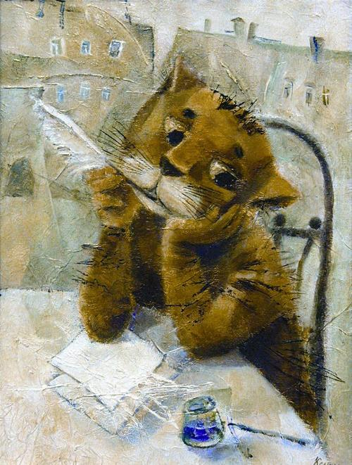 Letter to the master. Painting by Russian artist Eleanora Almeteva