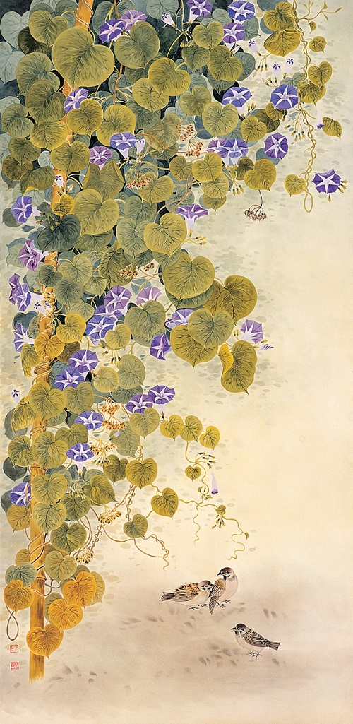 Morning Glory. Painting by Korean artist Sookja Rho