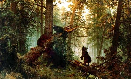 Morning in a Pine Forest (Bears)