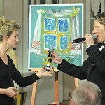 At the charity auction. Natalia Kournikova, the person who owns the only painting of Vladimir Putin