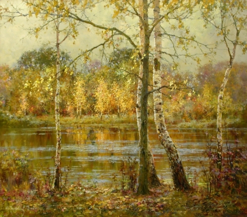 Oil painting by Russian artist Yuri Obukhov