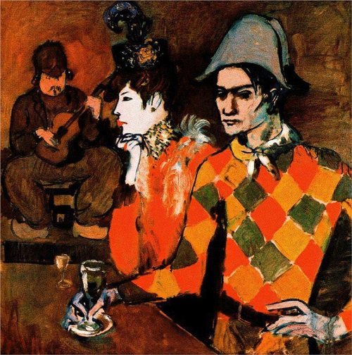 Pablo Picasso. 'Harlequin with a glass'. 1905