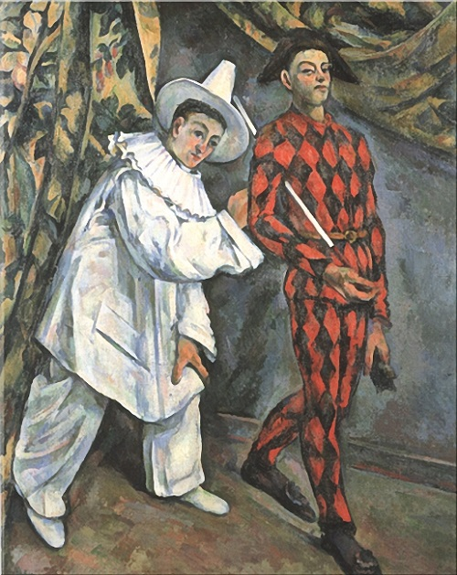 Paul Cezanne (1839-1906) . 'Pierrot and Arlekin', 1888