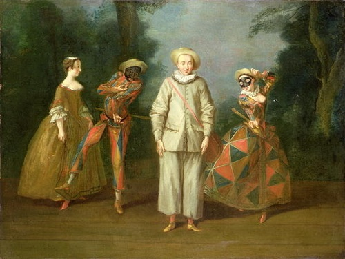 Philipe Mercier. 'Pierrot and Harlequin'