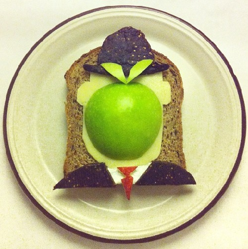 Rene Magritte. Art Toast Project by Ida Skivenes