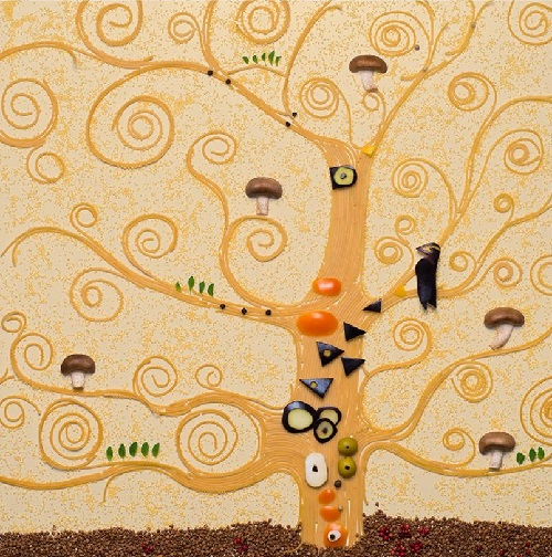 Reproduction of Gustav Klimt's 'The tree of life' 1905-1909