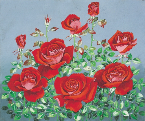 Rose. Painting by Korean artist Sookja Rho