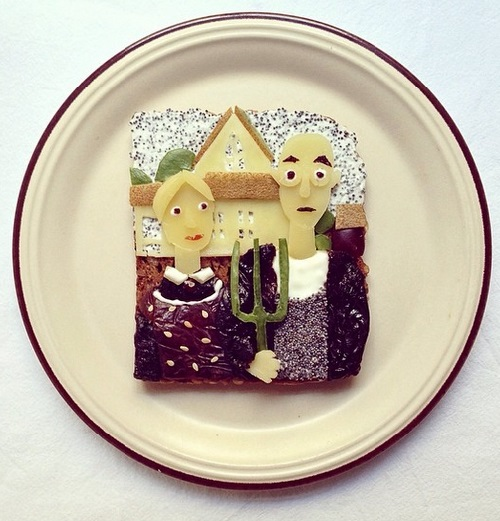 The American Gothic. Art Toast Project by Ida Skivenes