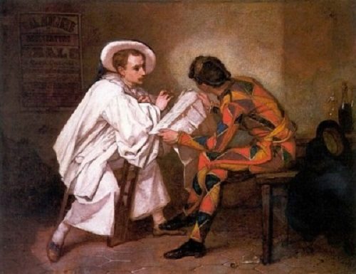 Thomas Couture Harlequin and Pierrot, 1857