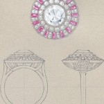 Beautiful Tiffany jewelry in sketches