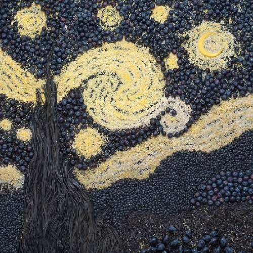 Van Gogh's 'Starry Night' 1889 details