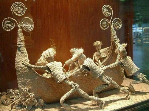 Chinese straw sculpture