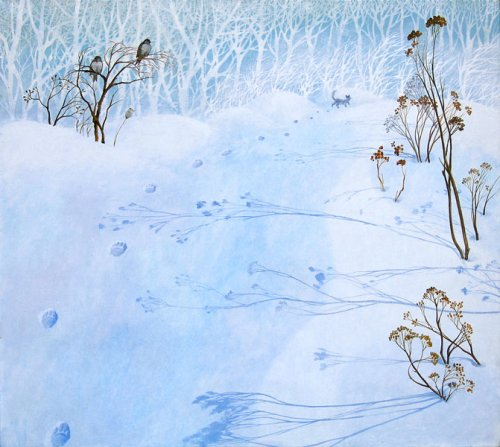 Footsteps. Painting by Olga Kvasha
