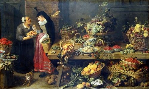 Frans Snyders, Fruit Stall. Flanders, Between 1618 and 1621. Renaissance still life code