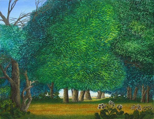 Green noise. Painting by Olga Kvasha