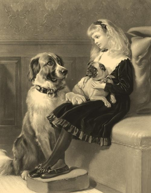 Her only friend. Mikhail Kolotikhin unique engraving art. Engraving of the same name was performed by George H. Every