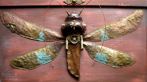 Insect. Steampunk sculpture by Lithuanian artist Arturas Tamasauskas