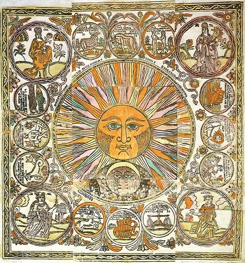 Pure Soul of Russian lubok. Lubok zodiac signs. 17- 18 century
