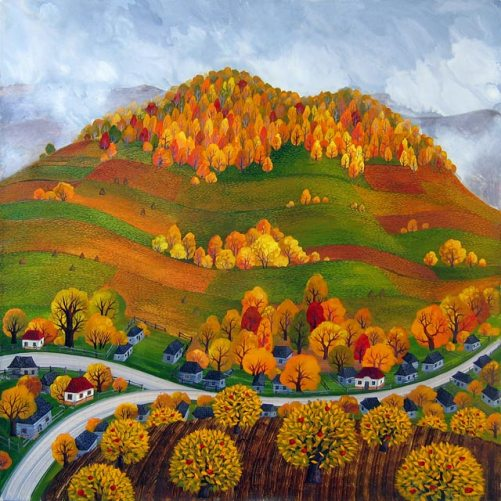 Mountains. Painting by Olga Kvasha