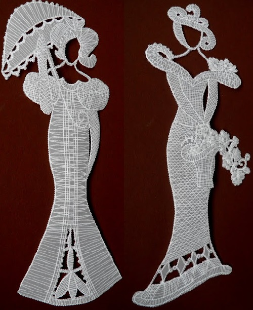 Parchment craft - lace-like paper lady