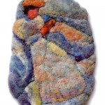 Felted brooch by Russian artist Svetlana Dmitriev