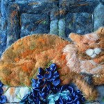 Resting in the sun. Wool painting by Russian artist Svetlana Dmitrieva