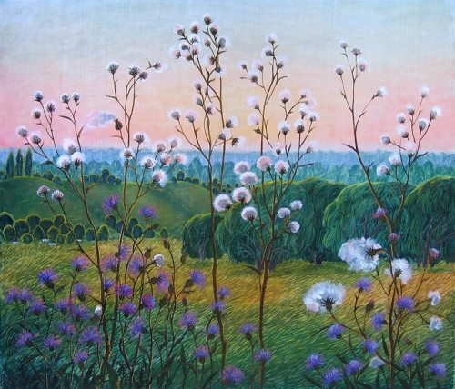 Soft hugs of evening. Painting by Olga Kvasha