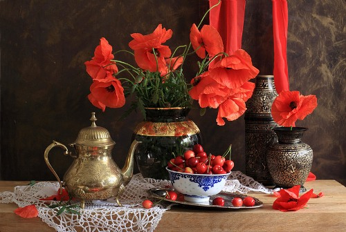 Still life with Poppies. Photographer Natalie Panga