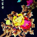 Colorful straw painting by Chinese craftsmen