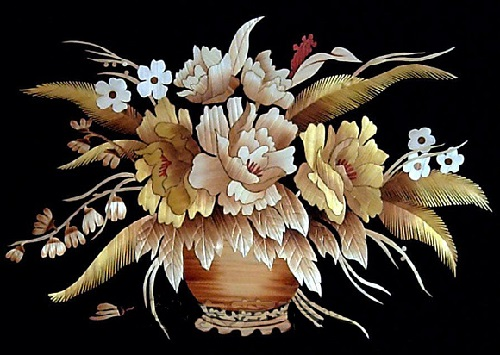 Chinese straw art