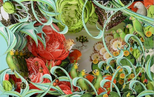 The garden, for the book New Botany, 2013. Pop-up paper illustrations by Bozka Rydlewska