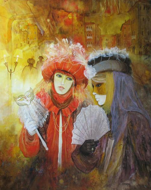 The magic of the Venetian carnival in paintings by Jean Claude Campana