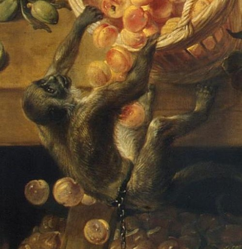 Renaissance still life code. The monkey