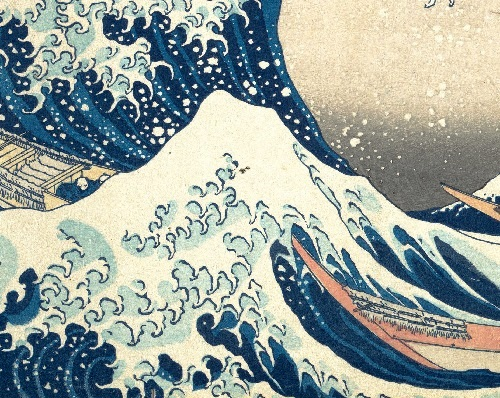 Katsushika Hokusai code. The second wave