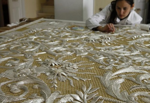 The splendor of the Spanish religious embroidery