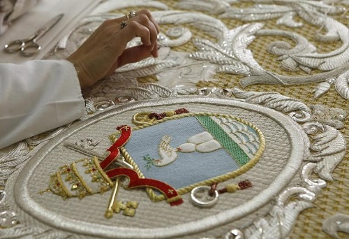 Spanish religious embroidery