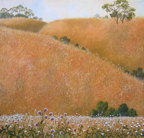 Warm hills. Painting by Olga Kvasha
