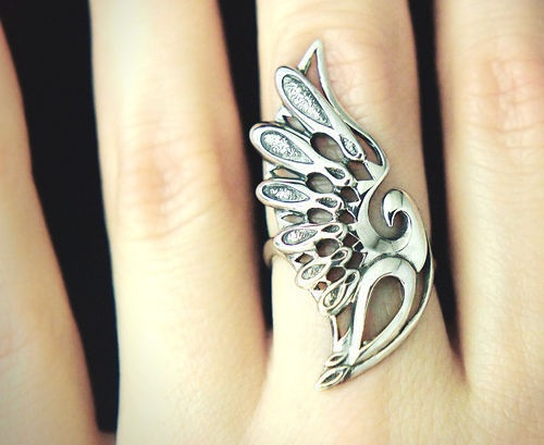 Wings. Silver ring. Silver art by Anna Kiryanova and Ivan Chernykh